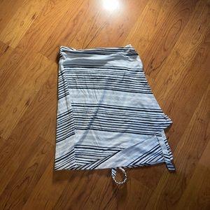 Vintage striped midi skirt